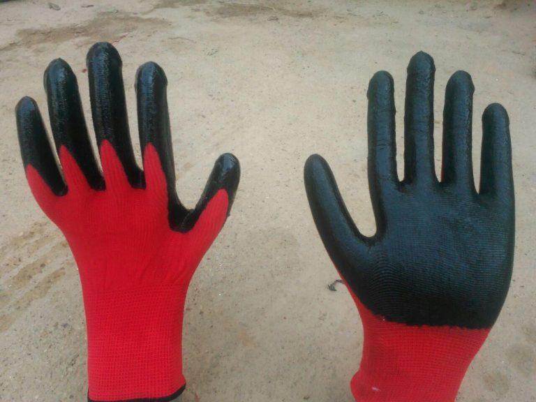 دستکش کف مواد  تازیر ناخن